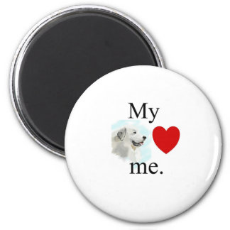 My great pyrenese loves me 2 inch round magnet