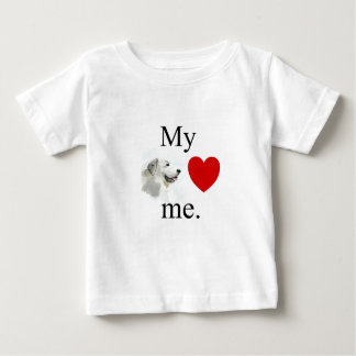 My great pyrenese loves me baby T-Shirt