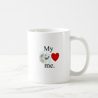 My great pyrenese loves me coffee mug