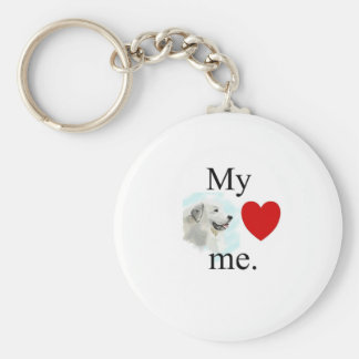 My great pyrenese loves me keychain