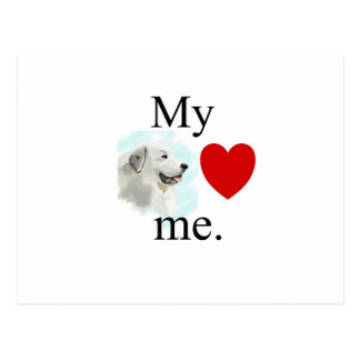 My great pyrenese loves me postcard