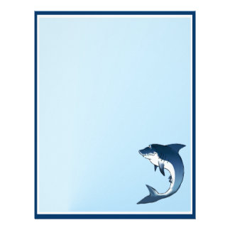 "My Great White- 5.5"" x 8.5"" - Vertical Letterhead"