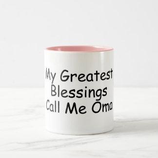 My Greatest Blessings Call Me Oma Two-Tone Coffee Mug