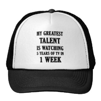 My Greatest Talent Is Watching 5 Years Of TV In 1 Trucker Hat