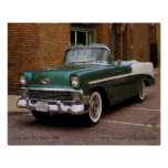 My Green 1956 Chevy Define Oil Poster