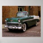 My Green 1956 Chevy Define Oil Print