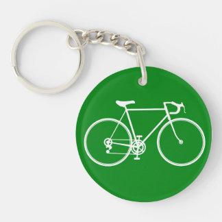 My Green bicycle Single-Sided Round Acrylic Keychain