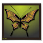 My Green Butterfly Print
