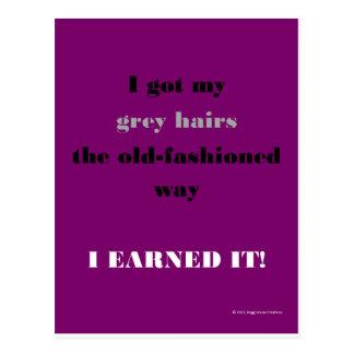 My Grey Hairs Postcard
