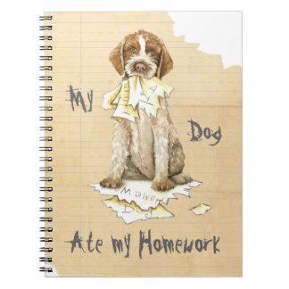 My Griffon Ate My Homework Spiral Notebook