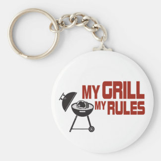 My Grill My Rules Basic Round Button Keychain
