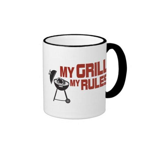 My Grill My Rules Ringer Coffee Mug