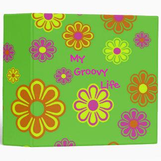 My Groovy Life mod pop flowers 3 Ring Binder