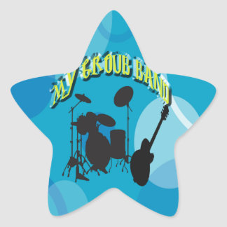 My Group Band Sweet Blue Star Sticker