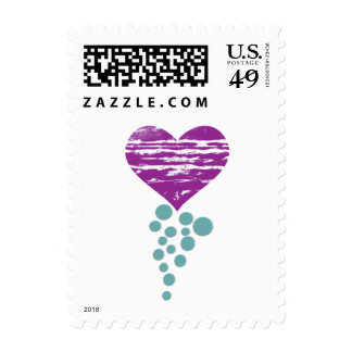 My Grunge Heart - Postage Stamps - Designer