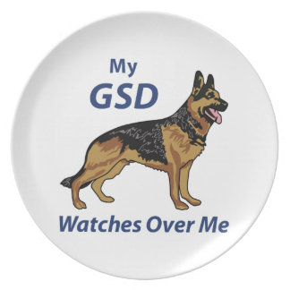 My GSD Dinner Plate