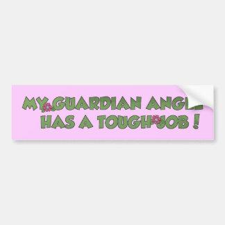 My Guardian Angel Car Bumper Sticker