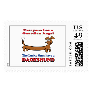My Guardian Angel is my Doxie Postage
