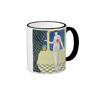 My Guests have not Arrived, illustration of a woma Coffee Mug