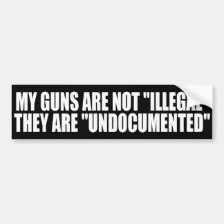 My Guns are Undocumented Bumper Sticker