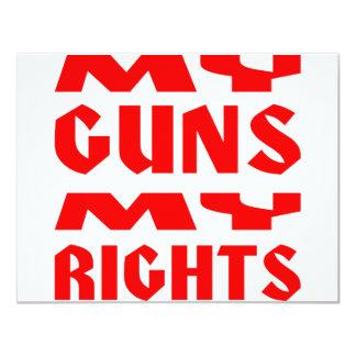 My Guns My Rights 4.25x5.5 Paper Invitation Card