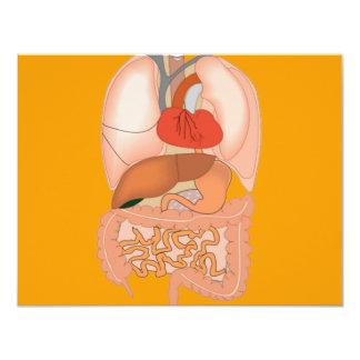 My Guts, Digestive Organs 4.25x5.5 Paper Invitation Card