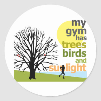 My Gym Has Trees Classic Round Sticker