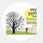 My Gym Has Trees Round Sticker