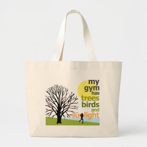My Gym Has Trees Tote Bags