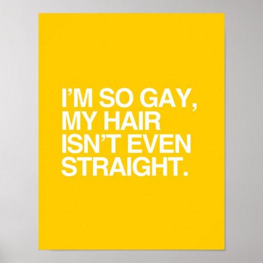 MY HAIR ISN'T EVEN STRAIGHT PRINT