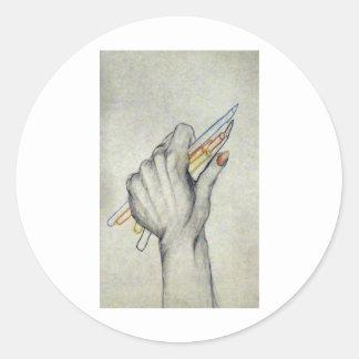 MY HAND CLASSIC ROUND STICKER