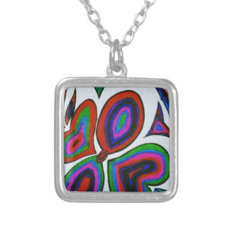 My Hand Drawn art.......... Silver Plated Necklace