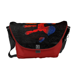 My hand with fire courier bag
