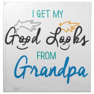 My Handomse Grandpa Cloth Napkin