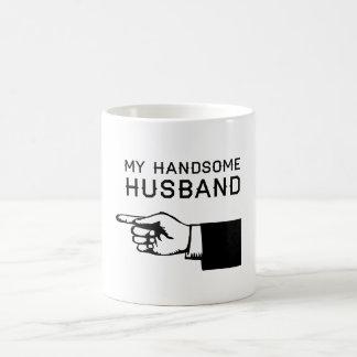My Handsome Husband 11 Oz Magic Heat Color-Changing Coffee Mug
