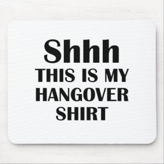 my hangover tshirt mouse pad