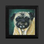 My Happy Face - Pug Dog Art Jewelry Box