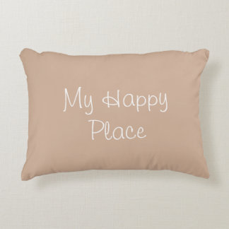 My Happy Place Accent Pillow