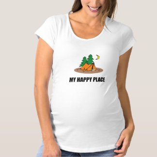 My Happy Place Camping Tent Maternity T-Shirt