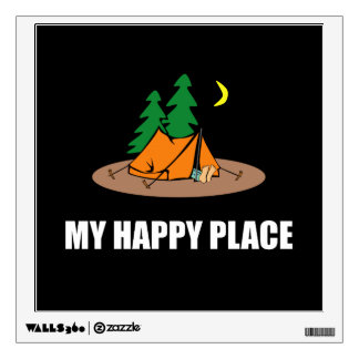 My Happy Place Camping Tent Wall Decal