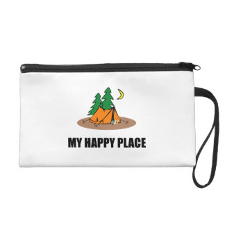 My Happy Place Camping Tent Wristlet Purse