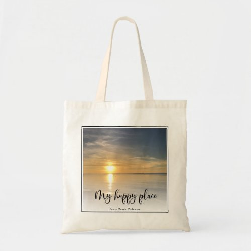 My Happy Place Custom Full Photo Framed Tote Bag