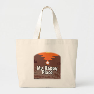 My Happy Place Large Tote Bag
