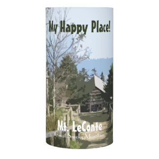My Happy Place! Mt. LeConte in Great Smoky Mtns Flameless Candle