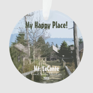 My Happy Place! Mt. LeConte - Smoky Mtns Template Ornament