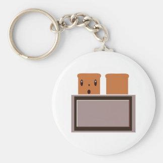 My Happy Toaster Basic Round Button Keychain