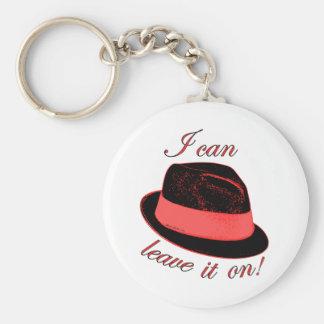 My Hat Basic Round Button Keychain