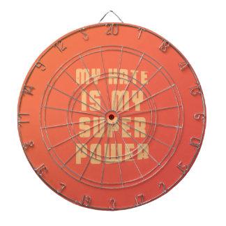 My hate is my superpower dart board
