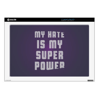 My hate is my superpower laptop decal