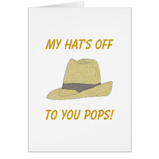 My Hat's Off-Fedora Card